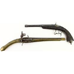 Collection of 2 antique pistols includes