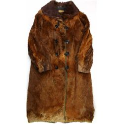 Early mans frontier hairon horse long coat