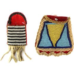 Collection of 2 beaded bags the smallest