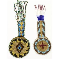 Collection of 2 early 20th C. beaded watch