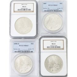 Collection of 4 Morgan Silver Dollars includes