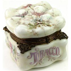Beautiful C. 1895 Wave Crest tobacco box