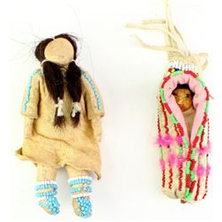 Collection of 2 beaded childs items includes