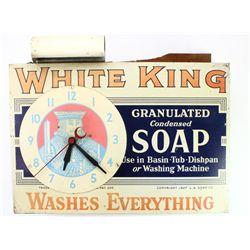 C. 1920-1930's advertising clock for White King