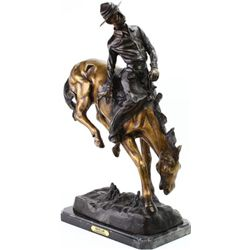 "Restrike bronze ""Outlaw"" by Frederick Remington"
