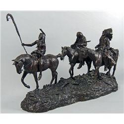 "Restrike bronze ""Coming Through the Rye"""