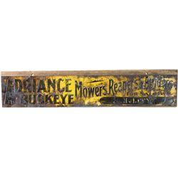 Rare Adriance Buckeye farm equipment sign