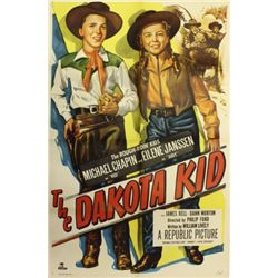 Original full sheet The Dakota Kid movie poster,
