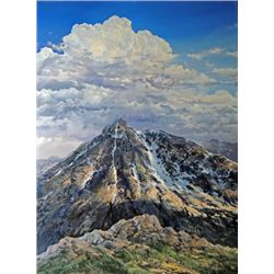 """Mount of Holy Cross"" oil on canvas, 40"" X 30"","