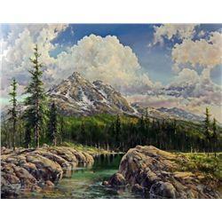 """Along the Range of Light"" oil on canvas, 48"" X"