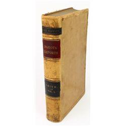 1886 Dakota Reports law book listing the Crow