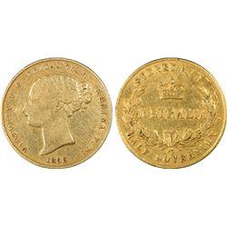 1856-SY ½ Sovereign PCGS VF30