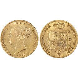 1871-S ½ Sovereign PCGS AU50