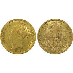 1883-S ½ Sovereign PCGS AU50