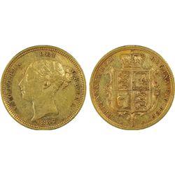 1887-S ½ Sovereign PCGS Genuine
