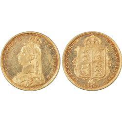 1887-S ½ Sovereign PCGS AU58