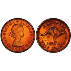 1955(p) ½ D Penny PCGS PR63RB