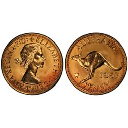 1957(p) Penny PCGS PR65RD