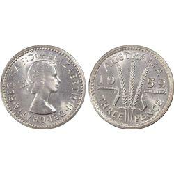 1959 Threepence PCGS PR 65