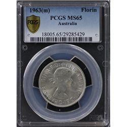 1963(m) Florin PCGS MS65