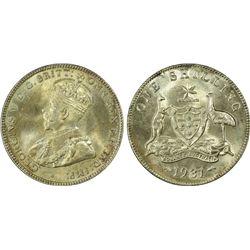1931(m) Shilling PCGS MS64
