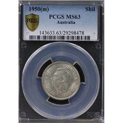 1950(m) Shilling PCGS MS63
