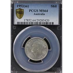 1952(m) Shilling PCGS MS64