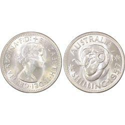 1957(m) Shilling PCGS MS65