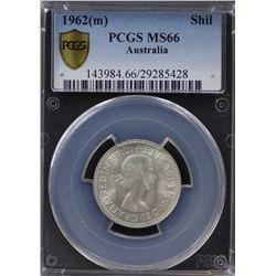 1962(m) Shilling PCGS MS66