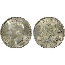 1945(m) Sixpence PCGS MS64