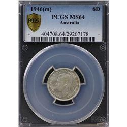 1946(m) Sixpence PCGS MS64