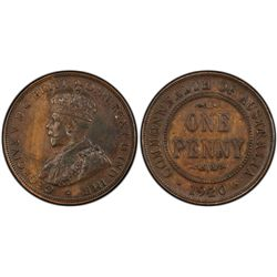1920 Penny PCGS AU55 No Dot