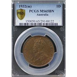 1932(m) Penny PCGS MS65BN