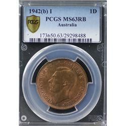 1942(b) I Penny PCGS MS63RB