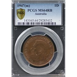 1947(m) Penny PCGS MS64RB
