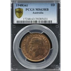 1948(m) Penny PCGS MS63RB