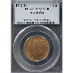 1912-H ½ Penny PCGS MS65RB