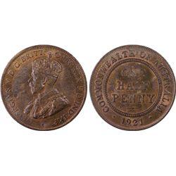 1921 ½ Penny PCGS MS64+BN