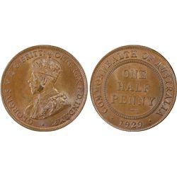 1929 ½ Penny PCGS MS64BN