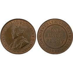 1931 ½ Penny PCGS MS64BN