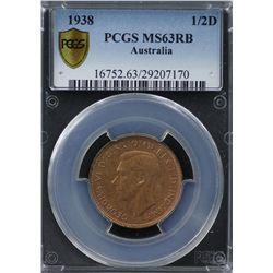 1938 ½ Penny PCGS MS63RB