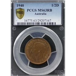 1940 ½ Penny PCGS MS63RB