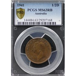 1941 ½ Penny PCGS MS63RB