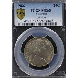 1966 20c London PCGS MS65
