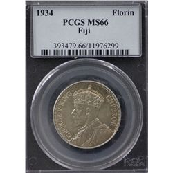 Fiji 1934 Florin PCGS MS66