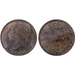 1874-H Canada 10c PCGS AU58