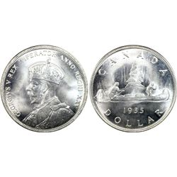 1935 Canada $1 PCGS MS66