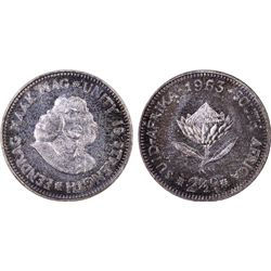1963 South Africa 2-1/2c PCGS PR67