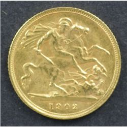1902 S Half Sovereign Uncirculated