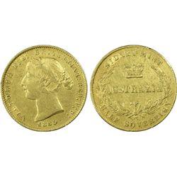 1860 Half Sovereign , Good Very Fine, rare Coin